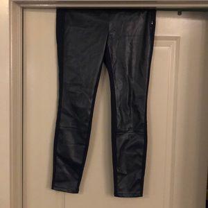 Navy Faux Leather Leggings